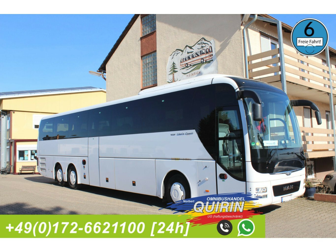 MAN R 08 Lions Coach (61 SS + 13 Stehpl.) Euro 6 Reisebus mit Busleasing.