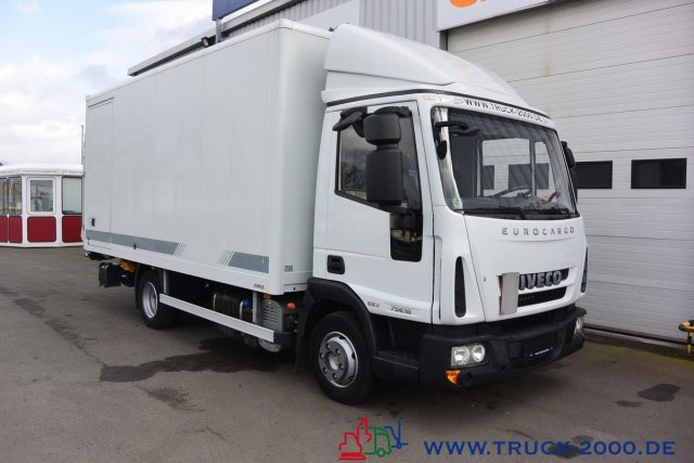 Iveco EuroCargo 75E18 EEV Koffer Seitentür LBW 1.5 to